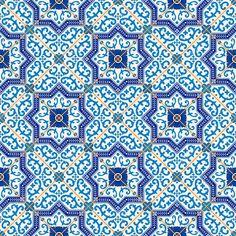 Amazing Morrocan Tiles Illustration,Amazing Morrocan Tiles Illustration Gorgeous Seamless Pattern From Moroccan Tiles Vector De Stock, Tile Murals, Tile Art, Wall Tiles, Wall Mural, Blue Tiles, White Tiles, Arabesque, Murals Your Way, Portuguese Tiles