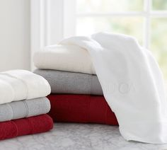 Pottery Barn Towels - Cardinal Red