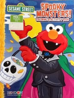 Sesame Street Halloween Spooky Monsters Coloring & Activity Book - Most Wanted Christmas Toys Halloween Toys, Color Activities, Christmas Toys, Shopkins, Fine Motor Skills, Problem Solving, Cool Toys, Small Book, Activity Books