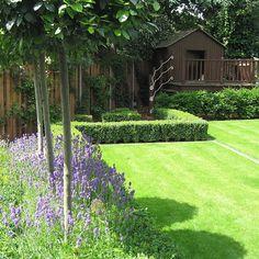 Slate Terrace Contemporary Garden