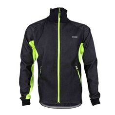 (22.9$)  Watch more here - http://aiwat.worlditems.win/all/product.php?id=H12725GR-L - ARSUXEO Men Fleece Thermal Winter Cycling Jacket Windproof Bike Bicycle Wind Coat Clothing Casual Long Sleeve Jersey Water-resistant