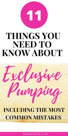If you're exclusively pumping, check out these pumping tips. Great for those who are ready to pump their breaskmilk!