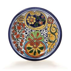 Talavera dinner plates handmade and hand painted by Mexican ceramic artists. Use as dinnerware or as wall hangings. Dozens of colorful designs avau2026  sc 1 st  Pinterest & Talavera dinner plates handmade and hand painted by Mexican ceramic ...