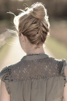 up do with french braid