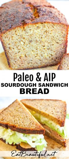 Paleo & AIP Sourdough Sandwich Bread is tender sliceable flexible and versatile. This bread is high in resistant starch easy to digest and low in antinutrients thanks to the easy overnight sourdough process. Egg-free nut-free grain-free and dairy-free! Paleo Recipes, Real Food Recipes, Yummy Food, Cookie Recipes, Egg And Grapefruit Diet, Slim Down Fast, Egg Diet Plan, Boiled Egg Diet, Aip Diet