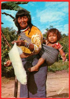 Jívaroan woman spinning, 1971. Jívaroan refers to groups of indigenous peoples in the headwaters of the Marañon River and its tributaries in northern Peru and eastern Ecuador.