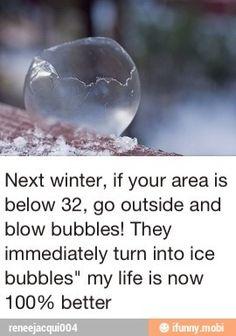 Ice bubbles!!