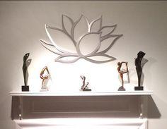 Fleur de Lotus Art mural en métal Art par INSPIREMEtals sur Etsy