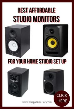Studio monitors are one of the essential purchases for your home studio setup. Your requirements may depend on the type of music you will be producing and of course your budget. These great studio monitors will get you going at an affordable price. #homestudioequipment #homestudiosetup #studiomonitors #musicproduction Home Studio Equipment, Home Studio Setup, Home Studio Music, Music Software, Old Music, Gift For Music Lover, Music Promotion, Types Of Music, Vintage Music
