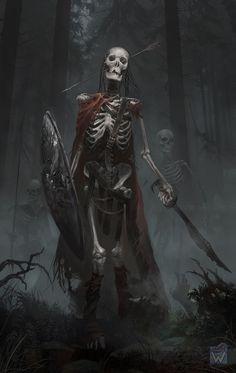 Headshot the Skeleton warrior Fantasy Kunst, Dark Fantasy Art, Dark Art, Zombie Kunst, Zombie Art, Skeleton Warrior, Skeleton Art, Character Portraits, Character Art