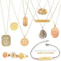 Custom pieces are so heartfelt. Monograms and initial pieces are always in style!