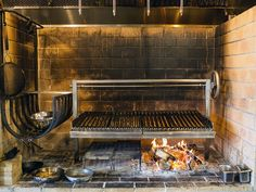 The mighty wood-fired oven. Outdoor Kitchen Patio, Outdoor Oven, Outdoor Kitchen Design, Outdoor Cooking, Kitchen Decor, Outdoor Fire, Wood Grill, Fire Grill, Wood Oven