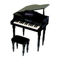 Kidu0027s Black 30 Key Baby Grand Piano With Bench By Austin Bazaar. $149.95.