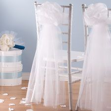 White Tulle Draping x - Ceremony Decorations - Weddings - Categories - Party City Canada Hanging Wedding Decorations, Bridal Shower Decorations, Tulle Decorations, Fancy Chair, Bridal Car, Tulle Bows, White Tulle, Wedding Supplies, Wedding Ideas