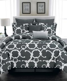 Look what I found on #zulily! Gray Rhys Hotel Quilted Overfilled Comforter Set by Duck River Textile #zulilyfinds