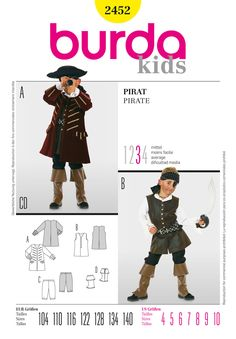 Pirate Outfit by Burda.  Jacket & Pants.   Simplicity Creative Group - Burda Style, Pirate