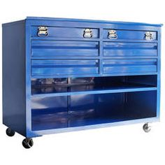 1960s Construction-Site Tool Cabinet, Refinished