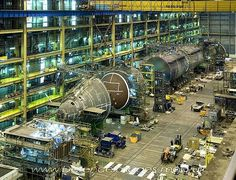 The Astute Submarine is shown here under construction at BAE Systems