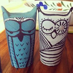 Owl Christmas Tree Ornaments from Toilet Paper Tubes!