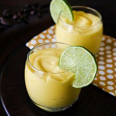 Mango Coconut Smoothies :: A taste of the tropics (and vegan friendly, too!) #foodgawker