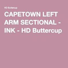 CAPETOWN LEFT ARM SECTIONAL - INK - HD Buttercup