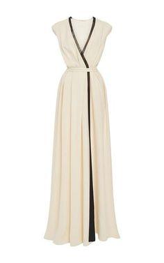 ac50d009f8a652 Wrap front gown by RHIE for Preorder on Moda Operandi Lange Jurken