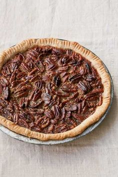 Ina Garten's Maple Pecan Pie Recipe | Classic Southern pecan pie gets a kiss of maple sweetness | Recipe by Ina Garten via TasteBook Blog