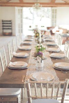 Long wedding reception table | Jillian Rose Photography | http://burnettsboards.com/2013/11/love-love/