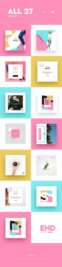InstaBoss Social Media Pack by Skewline on Creative Market - Tap the link to shop on our official online store! You can also join our affiliate and/or rewards programs for FREE! Social Media Branding, Social Media Banner, Social Media Template, Social Media Design, Social Media Graphics, Banner Instagram, Feeds Instagram, Web Design, Layout Design