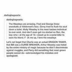 Enough reasons to <3 the Weasleys