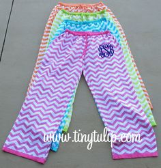 Monogramed pajama pants