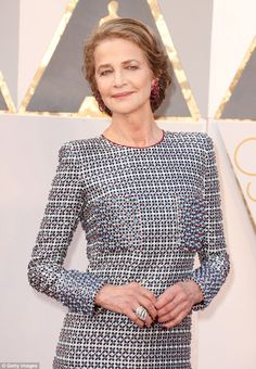 Just a number:While her dress was low key, the star impressed thanks to her timeless beauty with the 70-year-old looking years younger than her actual age