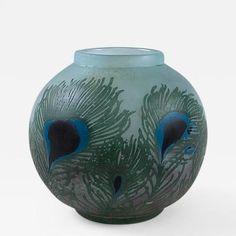 Daum French Art Nouveau Cameo Glass Vase