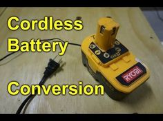 For getting more use from a battery powered drill. after the battery pack wont take a charge