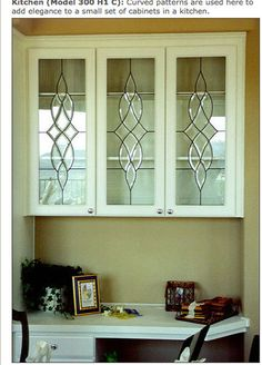 Cabinet Leaded glass door inserts for New \u0026 existing doors Design SGDK Perisa C #Stylesglass & Faux Leaded Glass | Change Doors and Glass kurilladesign.com