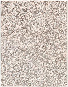 """James Siena, artista contemporáneo estadounidense con sede en Nueva York. Su arte se crea a través de una serie """"reglas visuales"""" generando  algoritmos. En la mayor parte de su obra se establece una unidad básica y la acción y lo repite indefinidamente."""