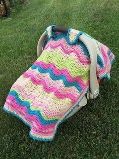 Crochet Emerson Car Seat Cover.