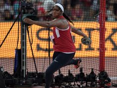 Gia Lewis-Smallwood (USA) places 11th in the women's discus.  Kirby Lee, USA TODAY Sports
