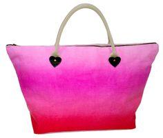 Ombre canvas bag Fashion Displays, My Design, Tie Dye, Tote Bag, Canvas, Diy, Bags, Fashion Design, Style
