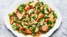 Cantaloupe and Cucumber Salad Recipe | Bon Appetit