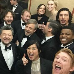 Even as the cast felt overjoyed after the triumphant premiere of #TheLastJedi, the guy in the upper-left corner was already silently…
