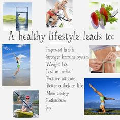 A healthy lifestyle leads to...