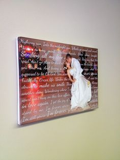 Custom Canvas Wedding Decoration sign  photo and words on canvas by geezees