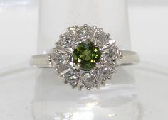 Vintage 14K Peridot & Diamond Ring