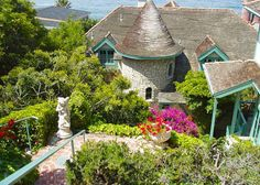 Sea Castle: The house was built in the 1930's and replicates a German castle.    Laguna Beach, CA