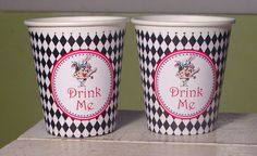 Hey, I found this really awesome Etsy listing at https://www.etsy.com/listing/126918003/alice-in-wonderland-party-cups-set-of-12