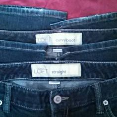 Ann Taylor LOFT Jeans Bundle Size 8 2 pair of Loft jeans - 1 curvy boot and 1 straight leg FINAL Ann Taylor Jeans
