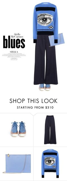 """""""The Stella Eye on Blues"""" by sharmarie ❤ liked on Polyvore featuring STELLA McCARTNEY and Aspinal of London"""