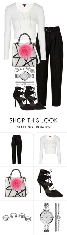 """Untitled #1897"" by ritavalente ❤ liked on Polyvore featuring Topshop, Les Petits Joueurs, Maison Margiela and FOSSIL"