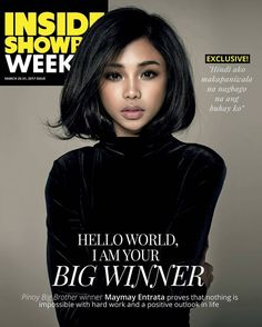 Maymay's First Digital Magazine Cover Filipina Makeup, Filipina Actress, Big Brother Winners, Lucky 7, Arab Fashion, Acting Career, Positive Outlook, Talent Show, Digital Magazine